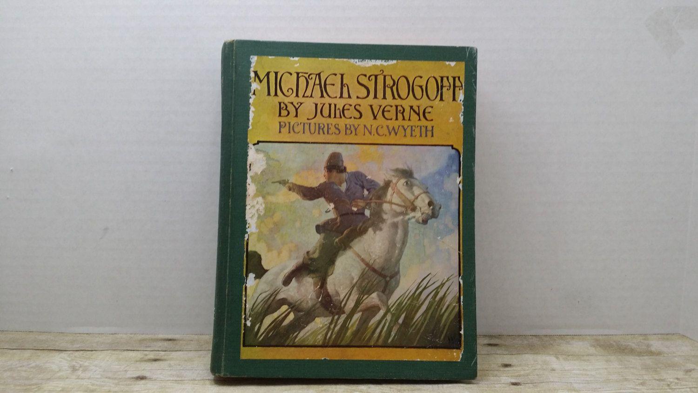 Michael Strogoff, Jules Verne, 1955, Vintage book, N.C. Wyeth by RandomGoodsBookRoom on Etsy