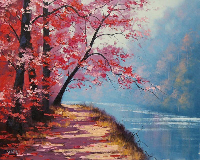 Graham Gercken 1960 Impressionist Landscape Painter Beautiful Landscape Paintings Oil Painting Landscape Landscape Paintings