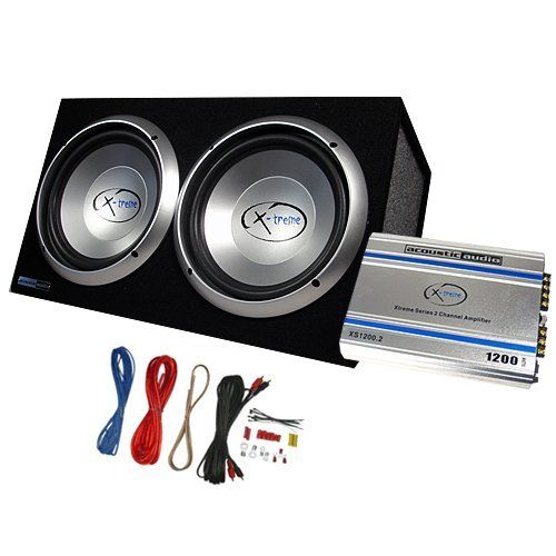 acoustic audio xs122a 1200w dual 12 car subwoofer box amplifier rh pinterest com KLH Subwoofer Wiring Velodyne Subwoofer Wiring