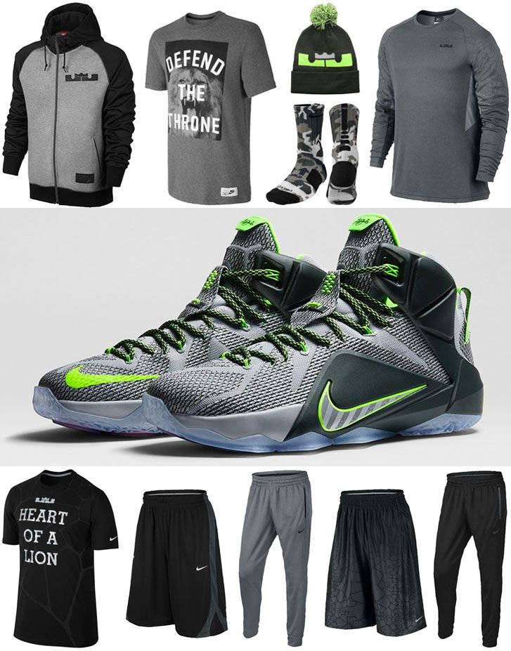 finest selection 6b514 c0d89 Nike LEBRON 12 Dunk Force Clothing Apparel Shirts and Shorts   SportFits.com