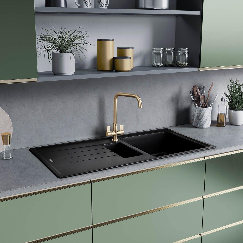 Rangemaster Elements 1.5 Bowl Igneous Granite Composite