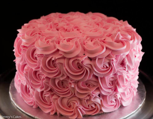 Pink Buttercream Cake With Piped Rosettes Cupcake Cakes Butter Cream Cake Decorating Tips