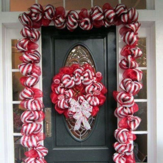 candy Cane entrance | Winter wonderland christmas ...
