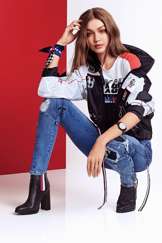 Gigi Hadid et Tommy Hilfiger dévoilent une nouvelle collection inspirée de la course   – kadın