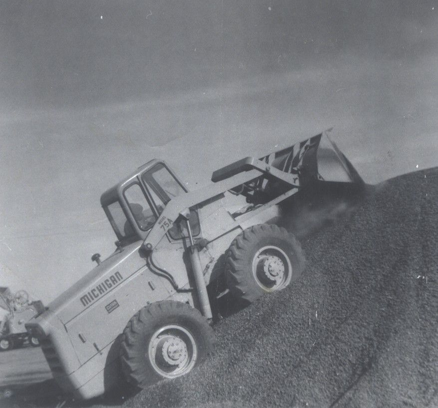 This #ThrowbackThursday photo takes us back to 1959. You're looking at a Michigan loader on a stone pile. Please let us know if you like it!