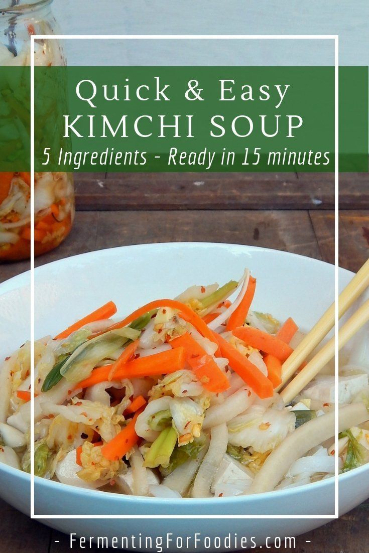 Quick and Easy Kimchi Soup images