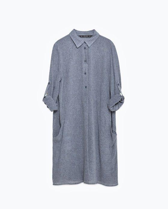 grande variété de modèles qualité-supérieure beauté Image 8 de TUNIQUE LONGUE de Zara | ZARA | Silk tunic ...