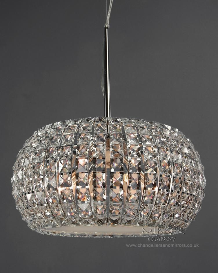 Modern Chrome & Crystal Chandelier with Diffuser £382.96 | new place ...