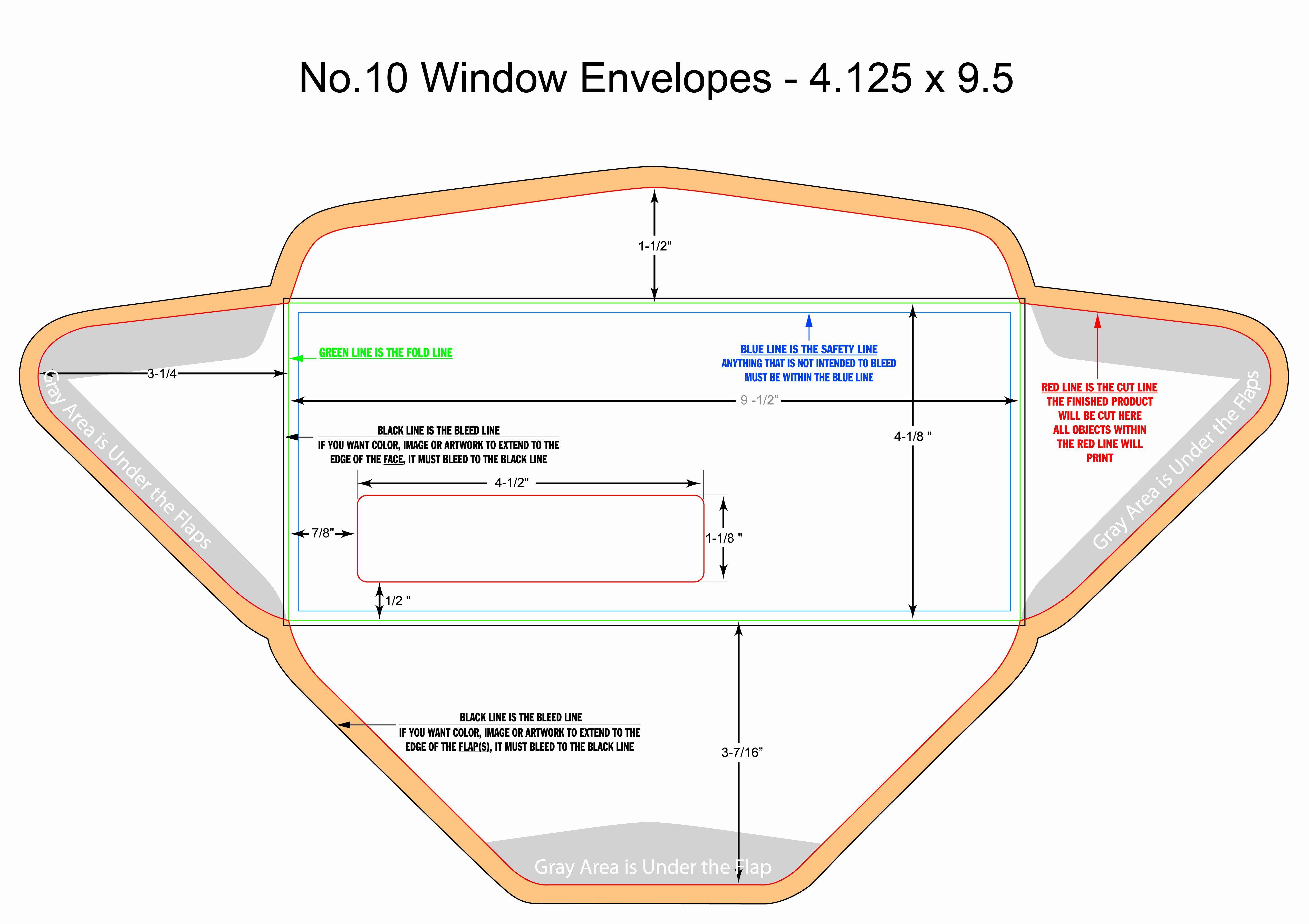 10 Window Envelope Template In 2020 Envelope Template Window Envelopes Templates