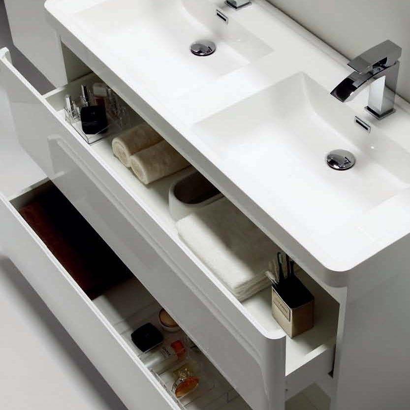 Floor Standing Double Basin Vanity Unit