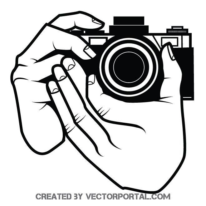 Taking A Shot With Camera Vector Illustration Camera Drawing Photography Logo Design Camera Clip Art