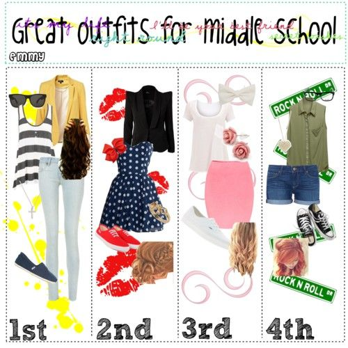 Cute+Clothes+for+Middle+School | polyvore.comGreat Outfits for Middle - Cute Outfits For School- Weekly Planner