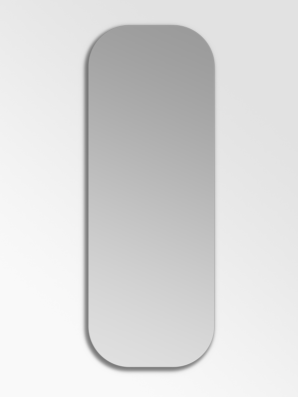 Birch Rounded Rectangle Frameless Mirrors Native Decor Frameless Mirror Rounded Rectangle Mirror