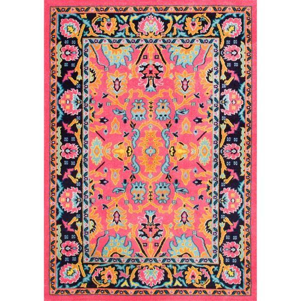 NuLoom Tatiana Boho Pink Oriental Pattern Area Rug | Area carpets ...