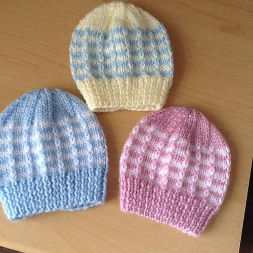 Duet Baby Hat pattern by marianna mel | Baby hat knitting ...