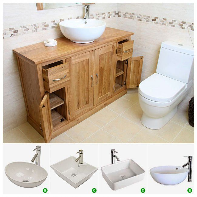 Oak Vanity Unit With Basin Bathroom Prestige Ofl Dimensions Height 80cm X Width 123cm X Depth 39cm 500 Trabajos Caseros Casero
