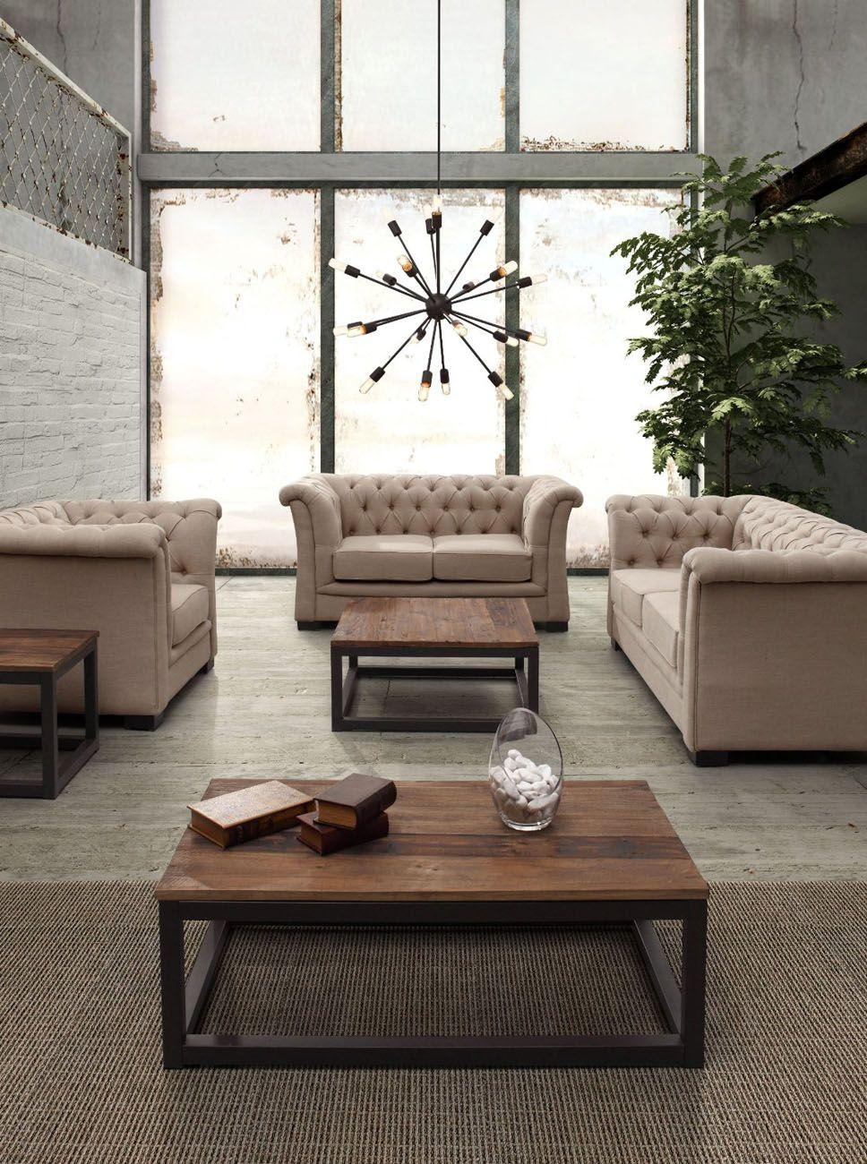 Sofa, Causeuse Et Chaise Capitonnée