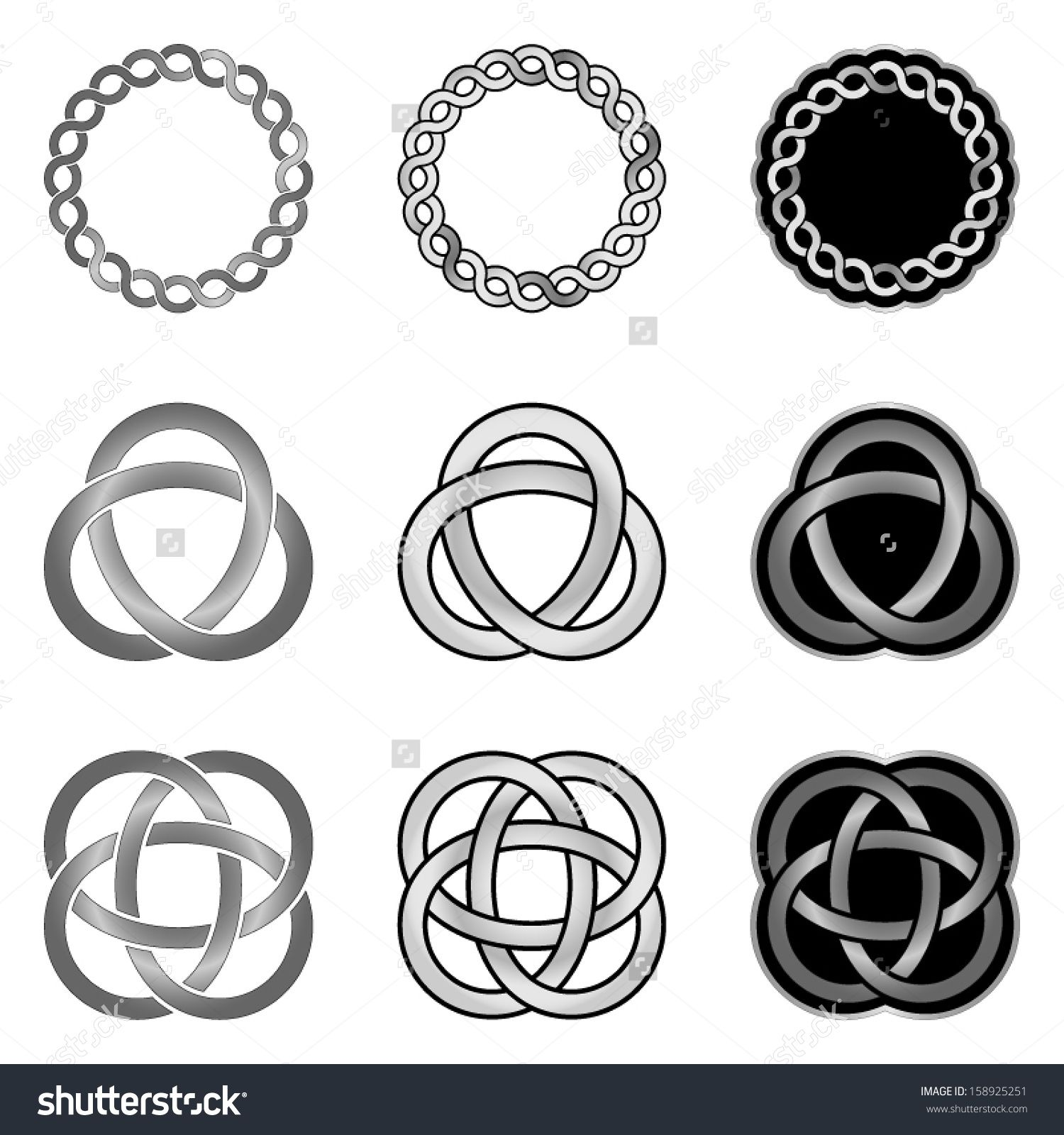 Celtic Knot Design Elements Patterns Models And Templates Stock