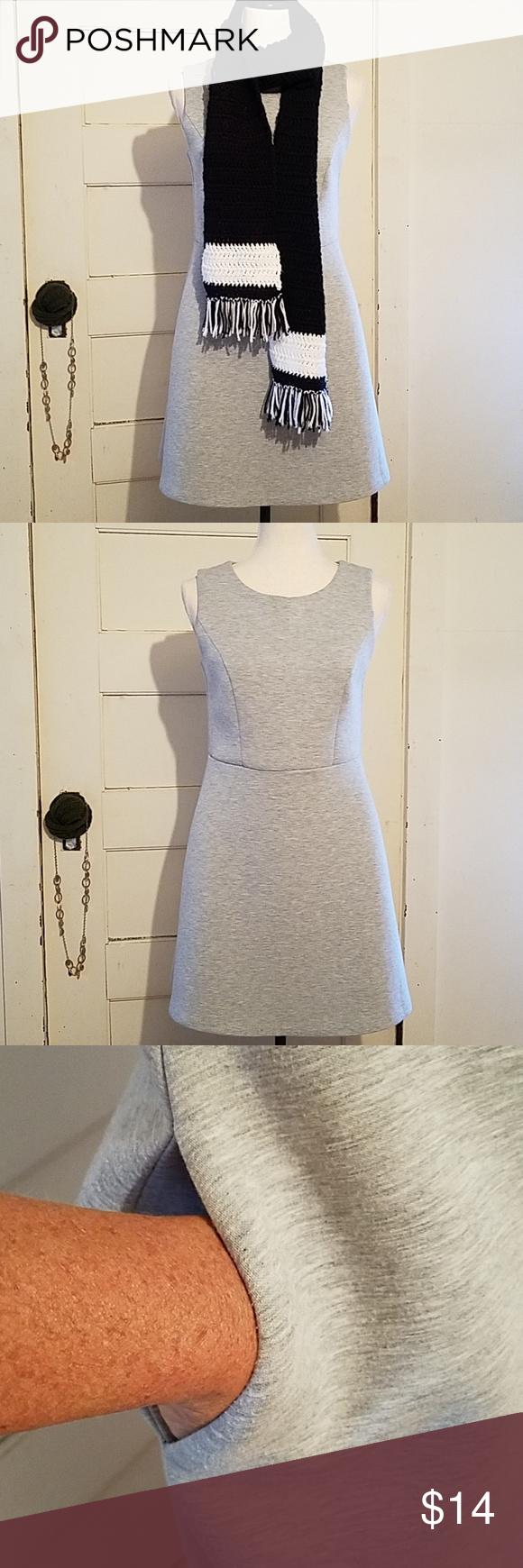 Paraphrase Sleeveles Thick Midi Dres Heatherd Gray Outside Cozy Polyester Rayon Spandex Material Size 6 Skater S Dresse Sleeveless Grey Dress
