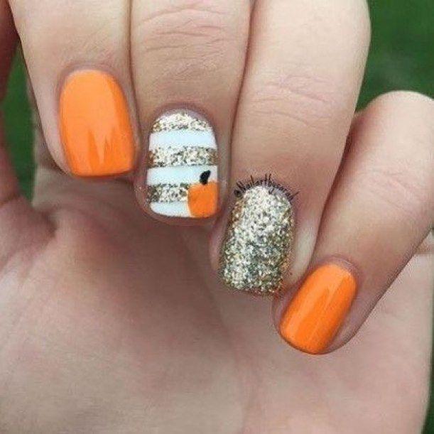 39 Trendy Fall Nails Art Designs Ideas Pumpkin Nails Fall Acrylic Nails Cute Nails For Fall