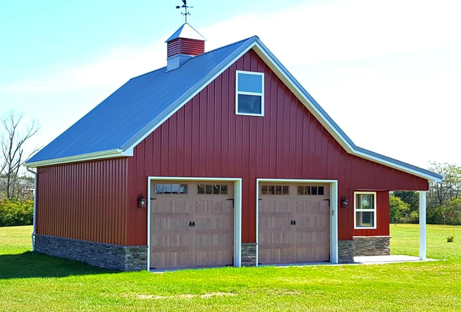 29 Country Garages with Lofts - Complete Pole-Barn Construction Plans