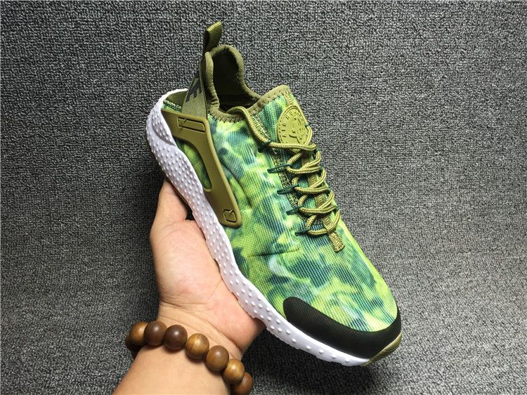 buy popular 9e58d af0ef 2016-2017 Newest Trainers 818061-300 Nike Air Huarache Run Ultra Kjcrd  Print Flash Lime Blackish Green Army Green White