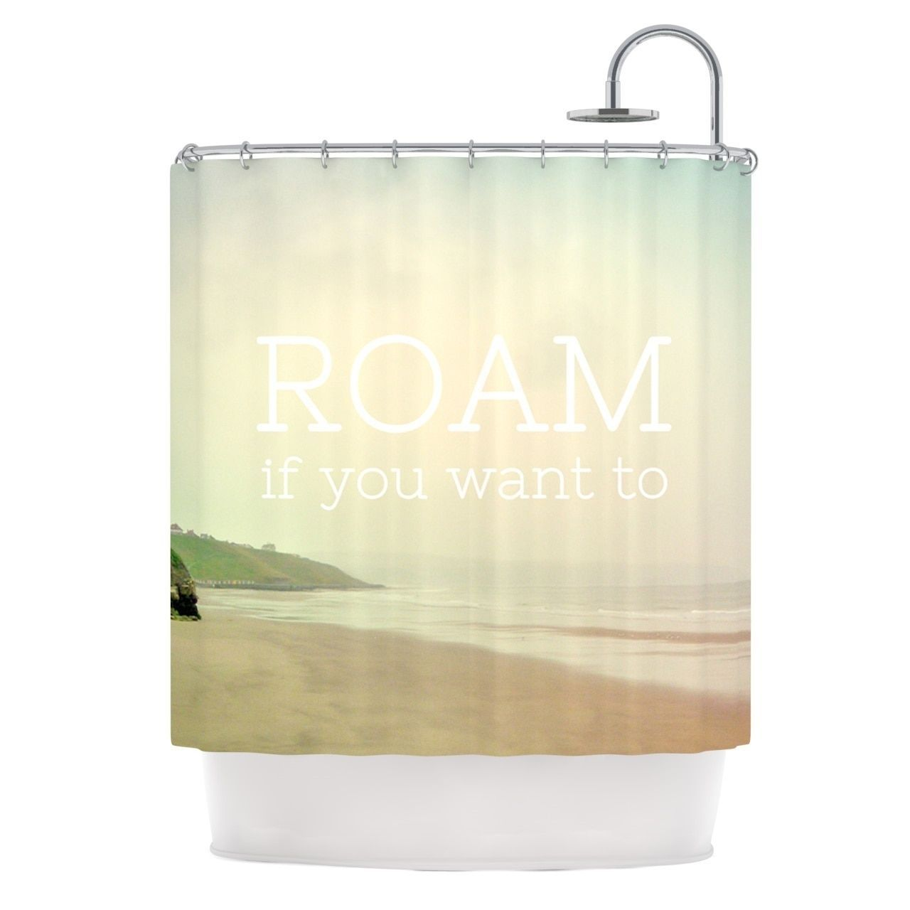 Ocean shower curtains - Kess Inhouse Alison Coxon Roam Ocean Shower Curtain 69x70 By Kess Inhouse