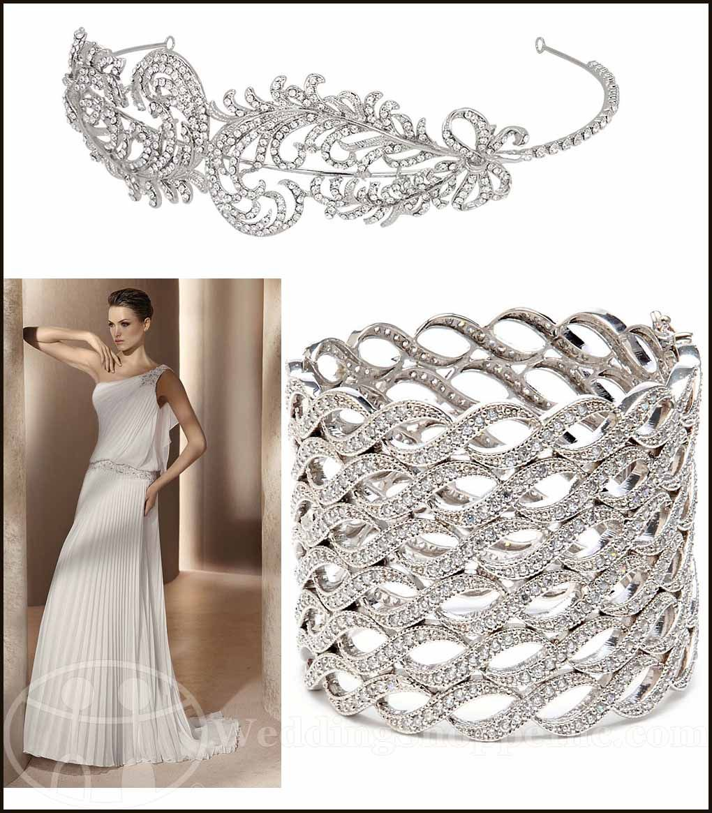wedding dress accessories My Wedding Chat Blog Archive Grecian Wedding Gown Accessories Cuff bracelets wedding headbands