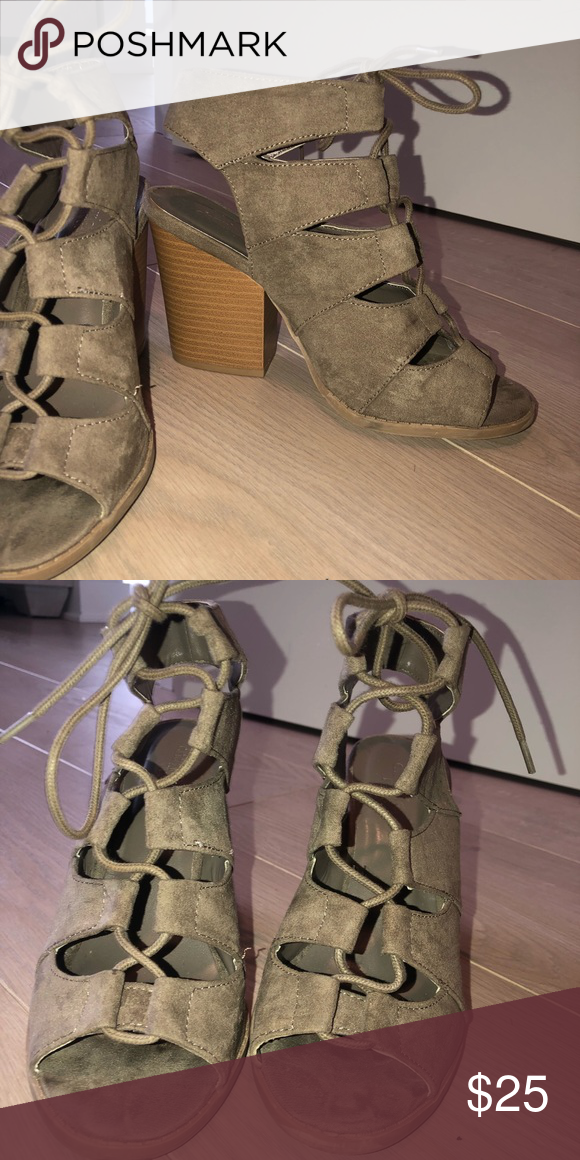 d7e6257d7dff Charlotte Russe block heels Tan suede l. Very comfy Charlotte Russe Shoes  Heels