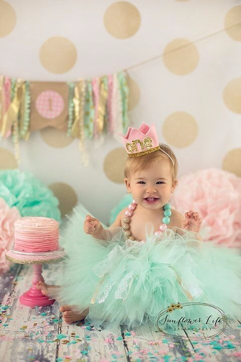 Cake Smash Outfit Girls First Birthday Girl