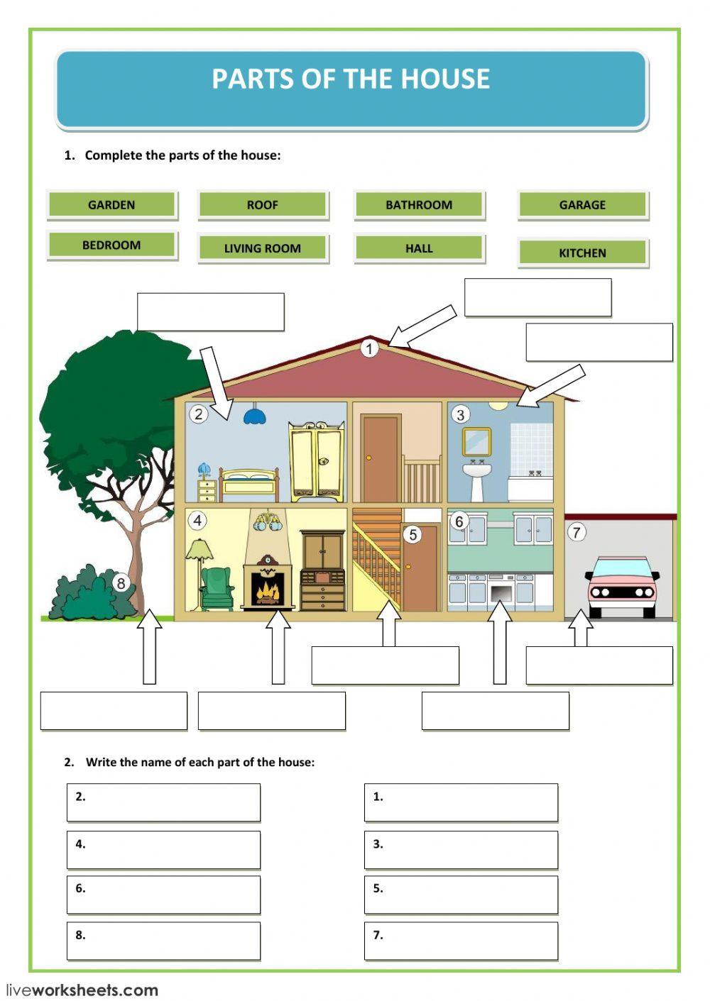 The house ficha interactiva y descargable. Puedes hacer ...