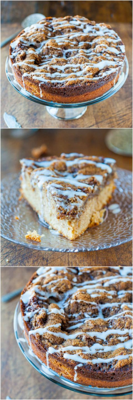 Cinnamon Roll Coffee Cake with Cream Cheese Glaze The