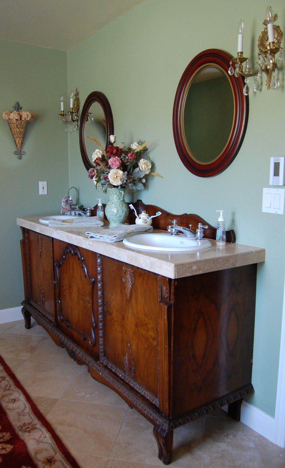 Saltbox Treasures Sideboard To Sink Vanity Makeover Bathroom Ideas Pinterest Sinks