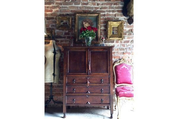 Beautiful #Antique Style Oak Rustic Cupboard Cabinet | Vinterior London  #vintage #gothic #office #home #design