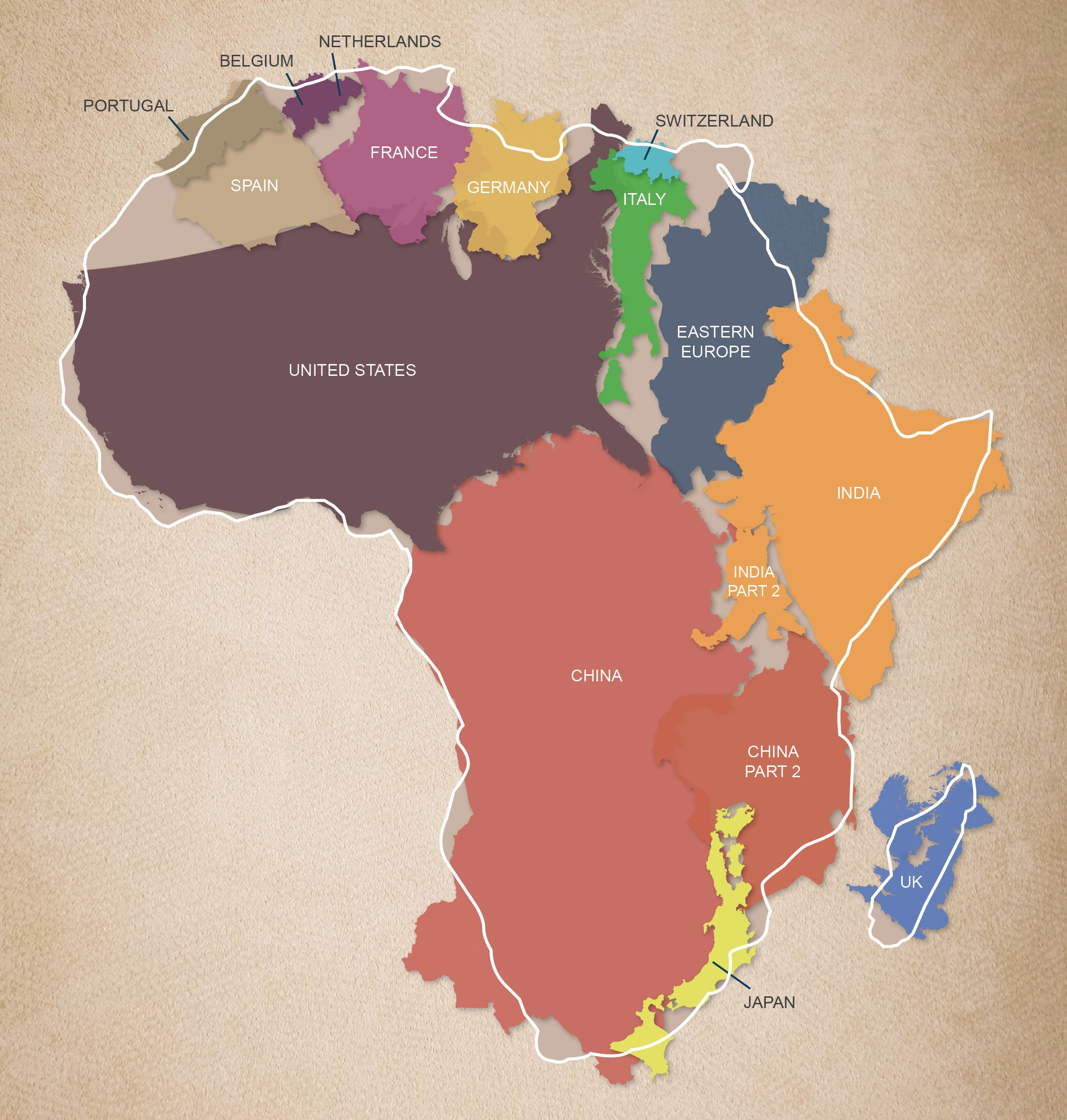 The true size and scale of the african continent africa the true size and scale of the african continent africa weloveafrica gumiabroncs Choice Image
