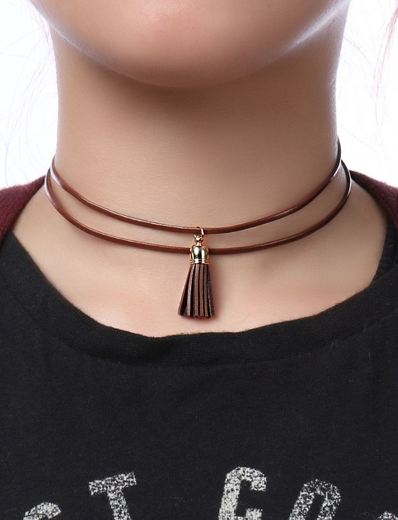 Personalized Leather Choker Leather and Gold Choker Leather Wrap Boho Choker Sterling Silver,Gold Fill,Gift for Her LEILAjewelryshop,N236