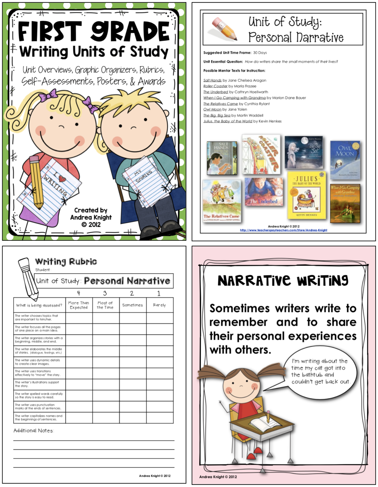 First Grade Writing Units Of Study Resources For Writing