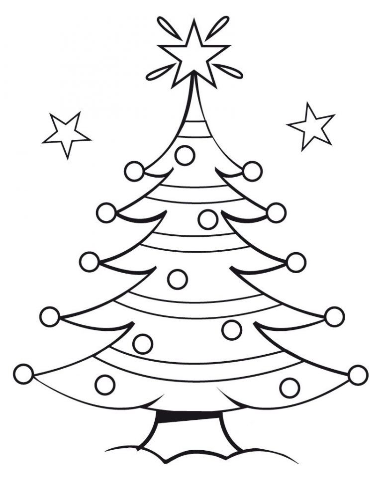 Free Printable Christmas Tree Coloring Pages For Kids Fab