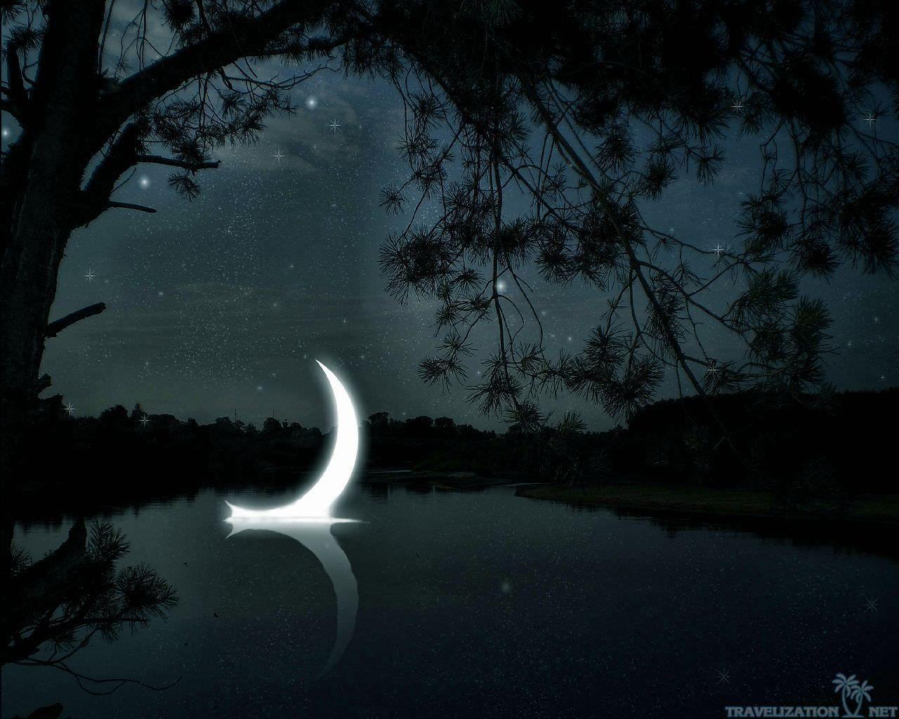 crescentmoonwallpaper hdwallpapers Moon, Island