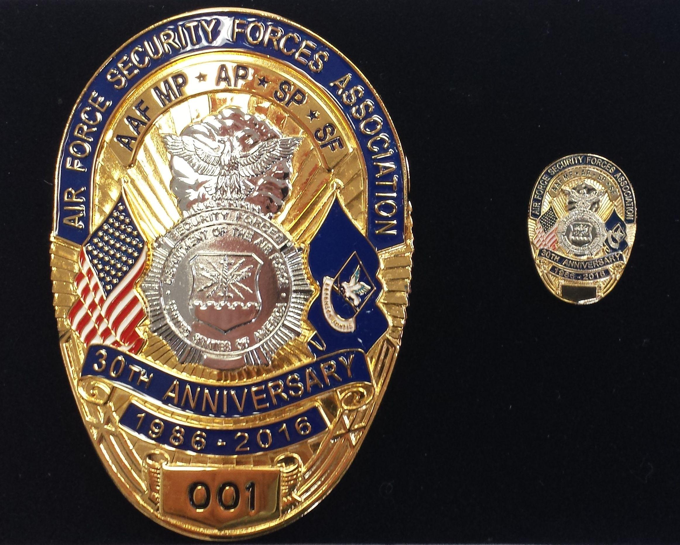 Anniversary Commemorative Badge That Include Lapel Pin Usaf Badge Lapel Pins