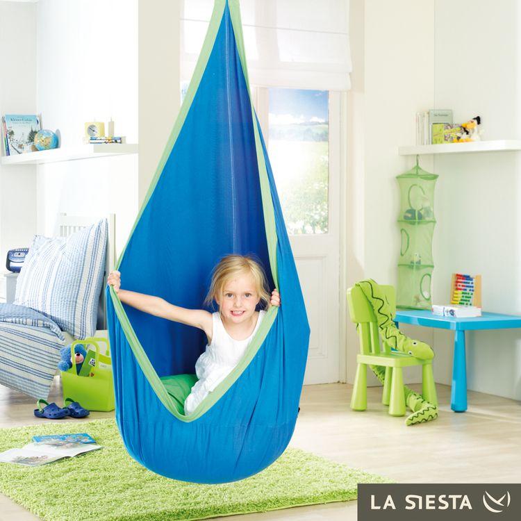 joki h ngeh hle dolfy blau kinder h ngeschaukel von la siesta mit gratis wirbel h ngeh hle. Black Bedroom Furniture Sets. Home Design Ideas