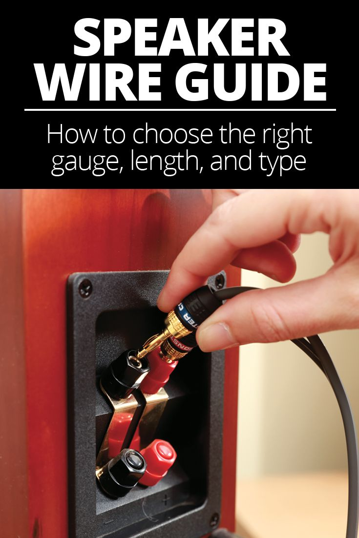 most speakers don t come with speaker wire it s up to you to select the right gauge thickness and type of wire for your system  [ 735 x 1102 Pixel ]