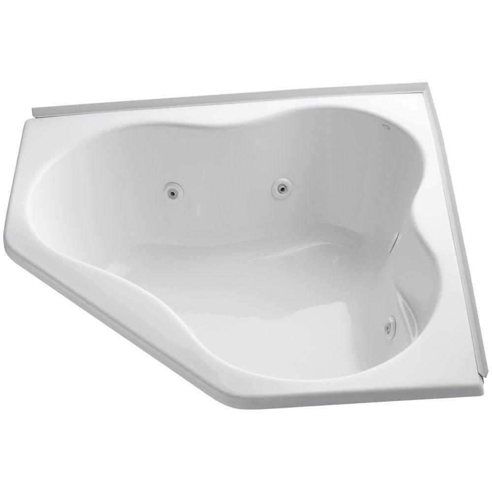 KOHLER 4.5 ft. Whirlpool Tub in White with Heater ...