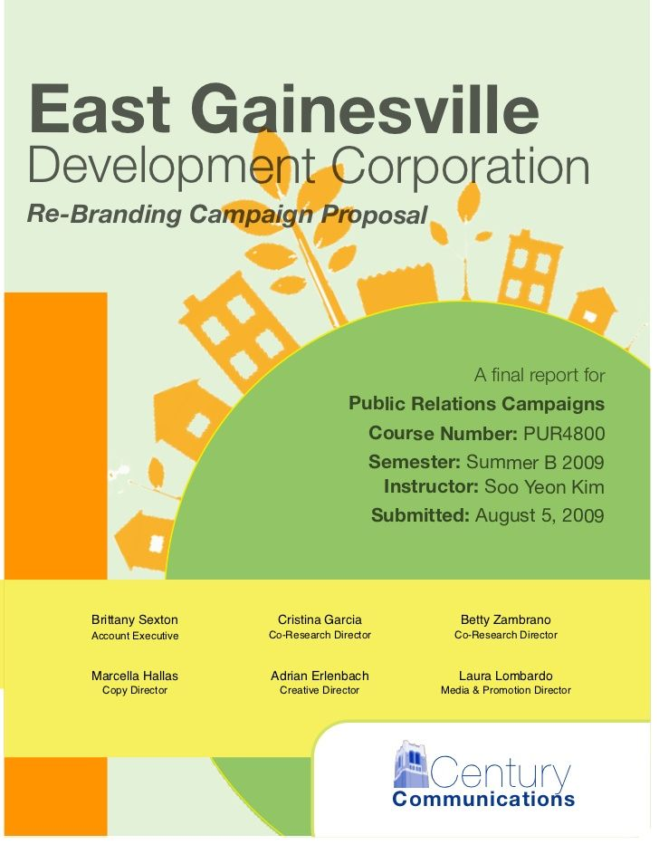 East Gainesvilledevelopment Corporationre Branding Campaign Proposal