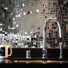 We've got 15 back splash ideas to make a splash! Just check out these mirror tiles (photo via Room Decorating Ideas)