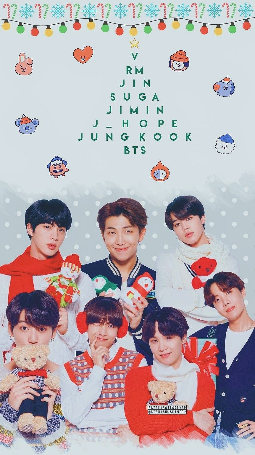To All My Followers I Wish You A Merry Christmas With Your Loved Ones Thank You Very Much For Your Su Bts Christmas Christmas Wallpaper Bts Wallpaper