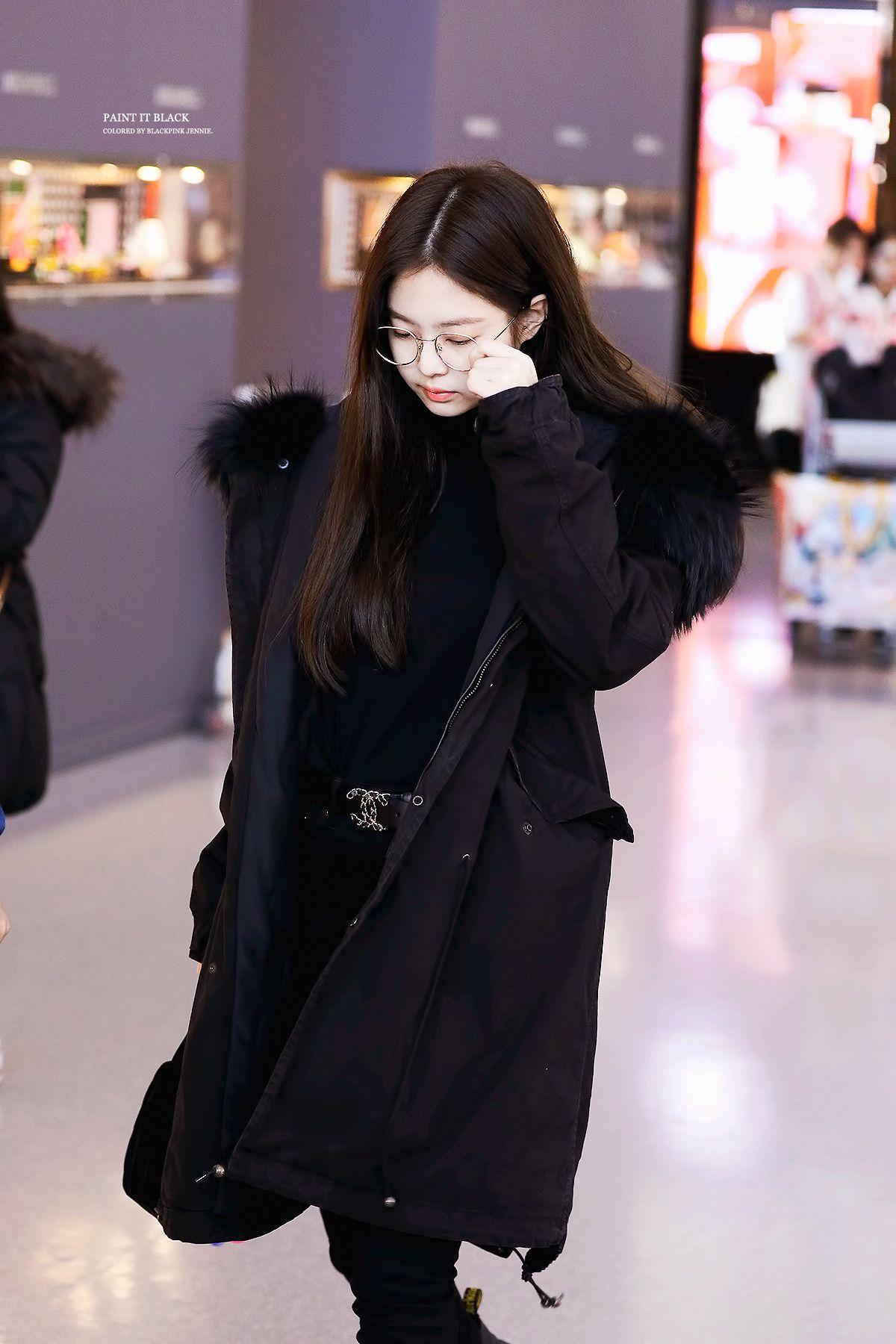 Jennie Airport Jennie Kimjennie Blackpink Model Pakaian