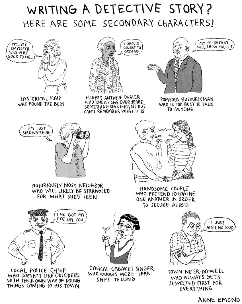 writing a detective story? here are some secondary