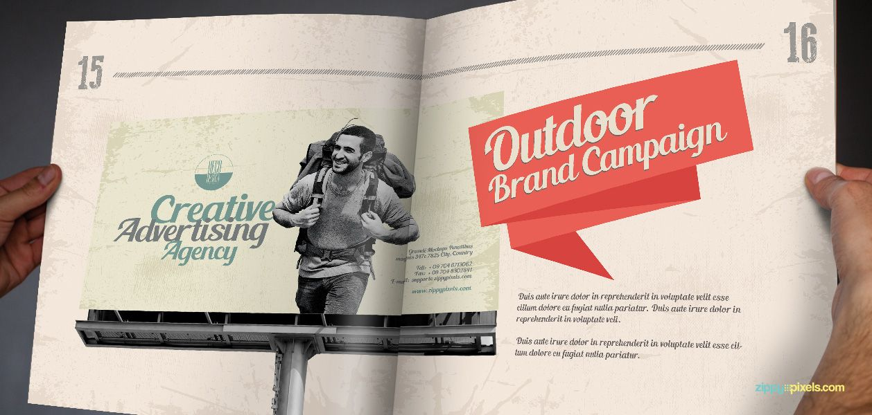 Outdoor Brand Campaign Vintage Guidelines Template Zippypixels