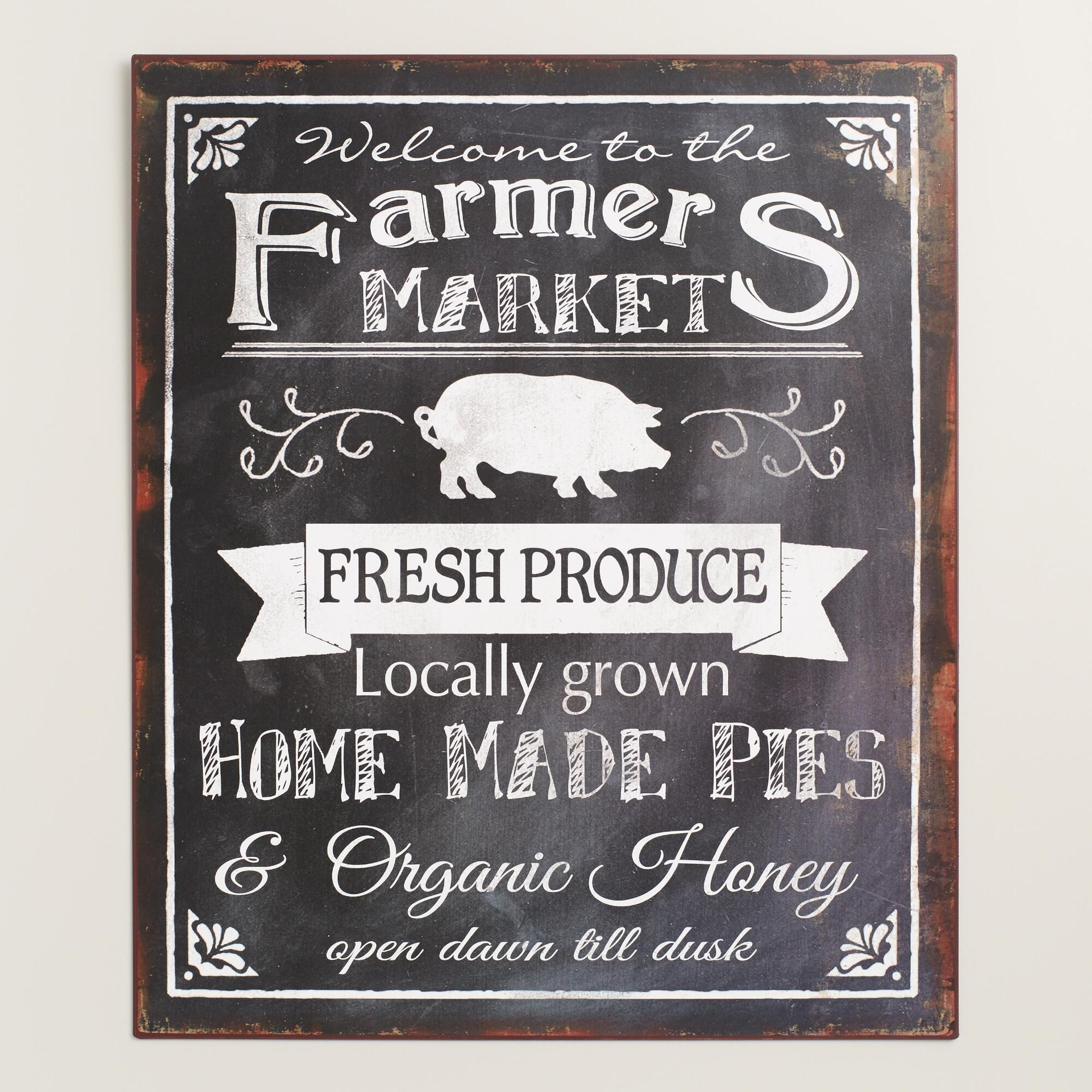 A charming addition to the kitchen, this quaint metal sign is a ...